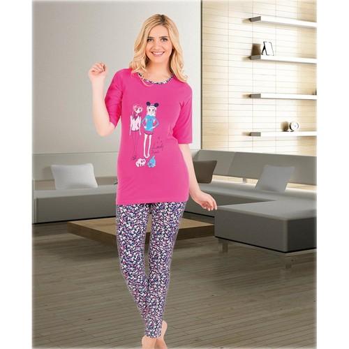 Gümüş 524 Kısakol Pijama Takım Pembe