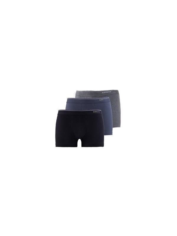 Blackspade Tender Cotton Erkek Shorty 3lü Paket 9670 Siyah-Antrasit-Antrasit Melanj
