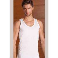 Berrak 3'Lü Paket Klasik Erkek Atlet Beyaz