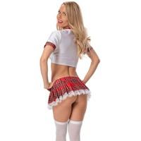 Merry See Seksi Liseli Kız Kostümü+ Çorap
