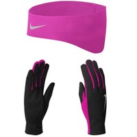 Nike Womens Dri-Fit Koşu Eldiveni Bere Seti