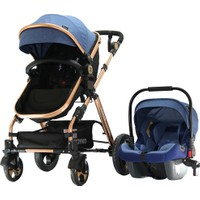 Yoyko Luxury Travel Sistem Bebek Arabası 3 in 1 Mavi Rose