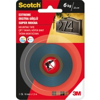 Scotch 4002 Çift Taraflı Bant Dış Cephe 19mm.X1,5mt.