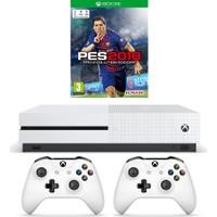 Microsoft Xbox One S 500GB Oyun Konsolu + 2. Beyaz Kol + Pes 2018