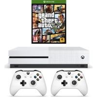Microsoft Xbox One S 500GB Oyun Konsolu + 2. Beyaz Kol + Gta 5