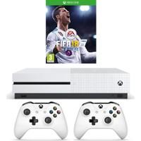 Microsoft Xbox One S 500GB Oyun Konsolu + 2. Beyaz Kol + Fifa 18