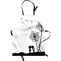Orange Venue Minik Aşıklar Desenli Mutfak Önlüğü Çiçek Romantik