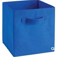 Rani Q1 Medium Çok Amaçlı Dolap İçi Düzenleyici Kutu Dekoratif Saklama Kutusu Raf Organizer Saks Mavi