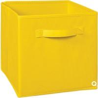 Rani Q1 Çok Amaçlı Dolap İçi Düzenleyici Katlanır Kumaş Kutu 23Cm x 23Cm Sarı
