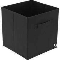 Rani Q1 Medium Çok Amaçlı Dolap İçi Düzenleyici Kutu Dekoratif Saklama Kutusu Raf Organizer Siyah
