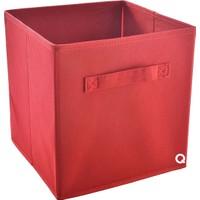 Rani Q1 Medium Çok Amaçlı Dolap İçi Düzenleyici Kutu Dekoratif Saklama Kutusu Raf Organizer Kırmızı