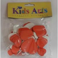 Dolphın Kıds Arts My-0025 Eva Set Kırmızı Beyaz