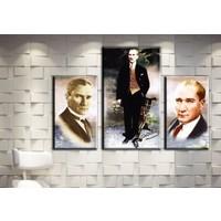 Pia Hediyelik Atatürk Tablo 3 Parçalı