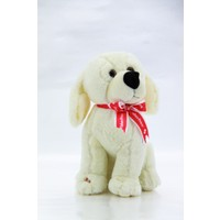 Fisher-Price Oturan Peluş Köpek - Beyaz