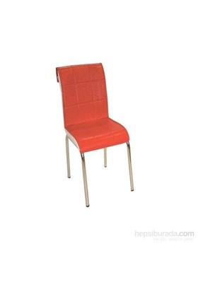 Mavi Mobilya Sandalye Kırmızı Suni Deri (4 Adet)