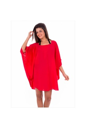 Ayyıldız 12067 Kırmızı Plaj Elbisesi