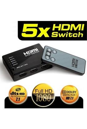 Dark Full HD 5 Giriş 1 Çıkışlı Uzaktan Kumandalı HDMI Switch Seçici (DK-HD-SW4X1) Dark Full HD 5 Giriş 1 Çıkışlı Uzaktan Kumandalı HDMI Switch (Seçici) (DK-HD-SW4X1)