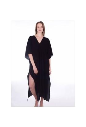 Ayyıldız 12069 Siyah Uzun Plaj Elbisesi