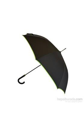 Bıggbrella Yeşil Şeritli Siyah Uzun Şemsiye