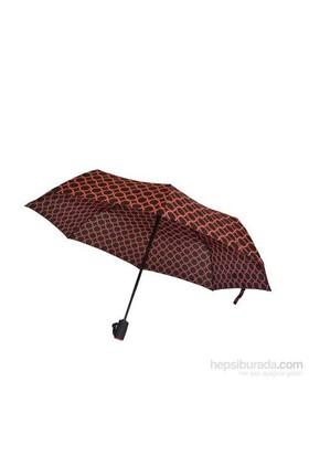 Bıggbrella Pembe Puanlı Siyah Mini Şemsiye