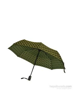 Bıggbrella Yeşil Puanlı Siyah Mini Şemsiye