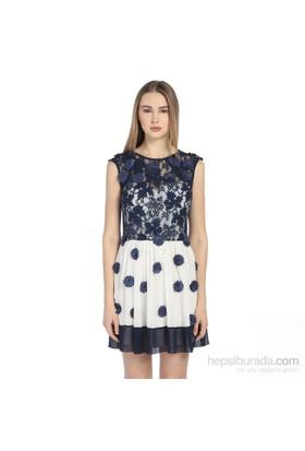Karahasans Lacivert Çiçekli Elbise