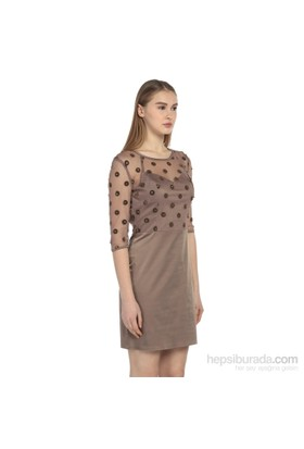 Karahasans Vizon Puantiyeli Elbise