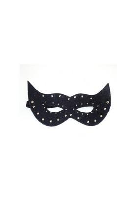 Siyah Deri Fantezi Maske