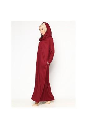Kapüşonlu Elbise - Bordo - Cml Collection