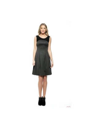 Nelida Robası Siyah Tüllü Elbise