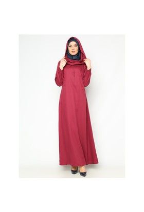 Kapüşonlu Elbise - Mürdüm - Cml Collection