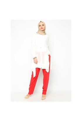 Cepli Pantolon - Kırmızı - Missmira