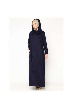 Kapüşonlu Elbise - İndigo - Cml Collection