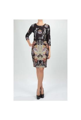 Naramaxx 584 Desenli Kadın Elbise