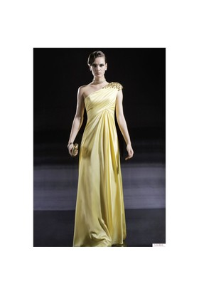 Nelida Tek Omuz Taşlı Elbise