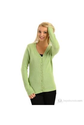Sense Kadın Hırka Fıstık Yeşili
