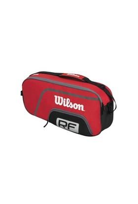 Wilson Wrz833503 Federer Team 3Pk Raket Cantasi Kırmızı Erkek Raket Çantaları