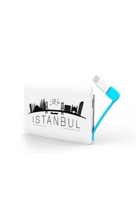 Codegen 2300 mAh İstanbul Silüet Baskılı iPhone 5/6 Aparatlı Taşınabilir Şarj Cihazı - IF-22İ