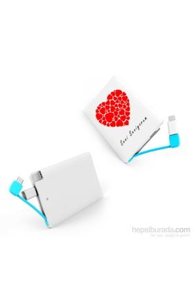 Codegen 2300 mAh Seni Seviyorum Baskılı iPhone 5/6 Aparatlı Taşınabilir Şarj Cihazı - IF-22S