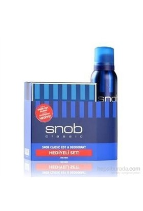 Snob Classic Edt 100 Ml Erkek Parfümü + 150 Ml Deodorant Set
