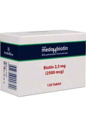 Dermoskin Medohbiotin Biotin 2,5 mg 120 Tablet