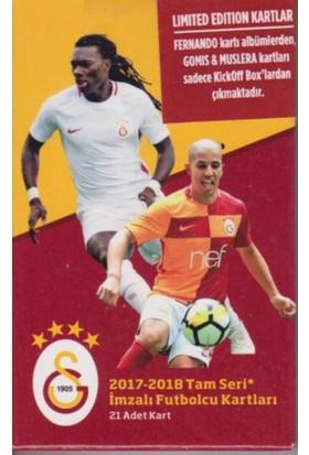 Galatasaray 2017-18 Tam Seri İmzalı Futbolcu Kartları ( 21 Adet Kart)