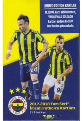 Fenerbahçe 2017-18 Tam Seri İmzalı Futbolcu Kartları ( 21 Adet Kart)