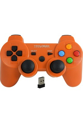 Trilogic Freeman Gw909 Pc / Ps3 Kablosuz Gamepad Oyun Kolu Joystick Turuncu