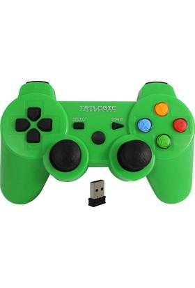 Trilogic Freeman Gw909 Pc / Ps3 Kablosuz Gamepad Oyun Kolu Joystick Yeşil