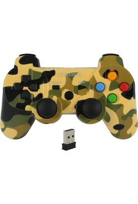 Trilogic KOMBAT GW929 PC/PS3 Kamuflaj Tasarım Kablosuz Gamepad Oyun Kolu