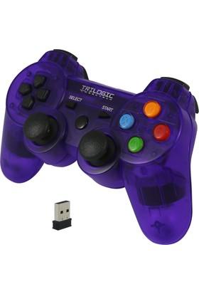 Trilogic Glare Gw809 Pc / Ps3 Şeffaf Kablosuz Gamepad Oyun Kolu Joystick