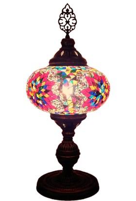 Otantik Osmanlı Dekoratif Mozaik Masa Lambası No-5