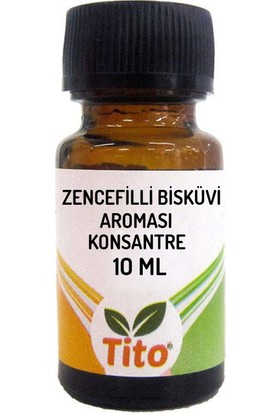 Tito Konsantre Zencefilli Bisküvi Aroması Suda Çözünür 10 ml