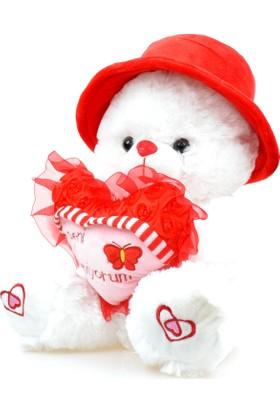 Pelüş Kalpli Hediye Ayıcık Seni Seviyorum 39 Cm